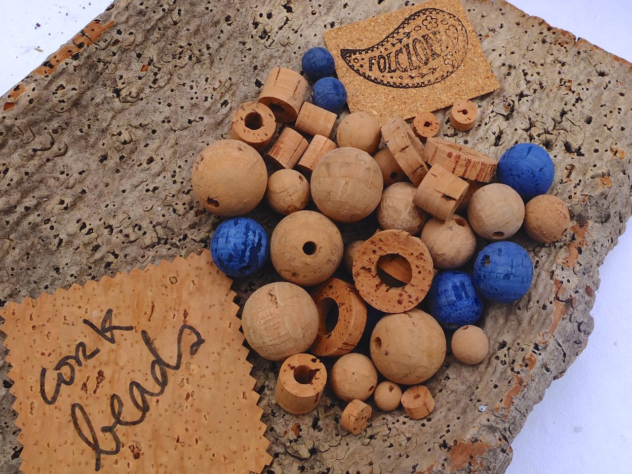 cork beads for vegan jewelry, spheres, rings and discs, eco-friendly craft supplies