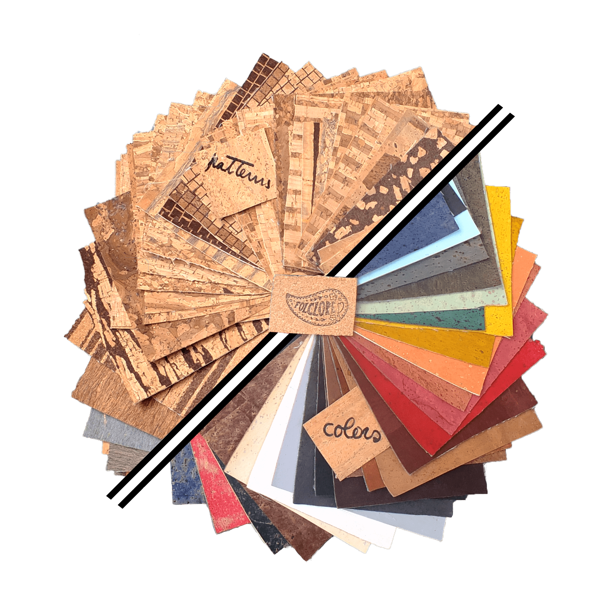 cork fabric wholesale, cork leather colors and patterns, eco-friendly craft supplies