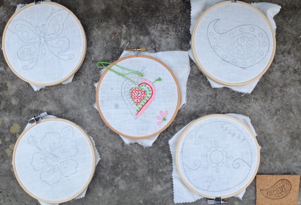 Beginner embroidery kits with embroidery Portuguese traditional designs